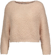 Brunello Cucinelli Cropped cashmere-blend bouclé sweater