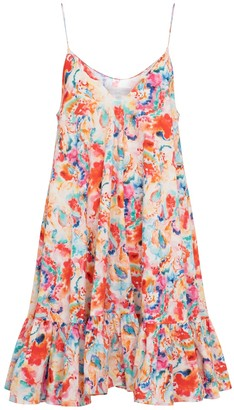 Caroline Constas Laurel floral stretch-poplin minidress