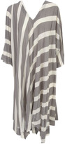 Issey Miyake Pleated Tunic Dress 3/4s V Neck