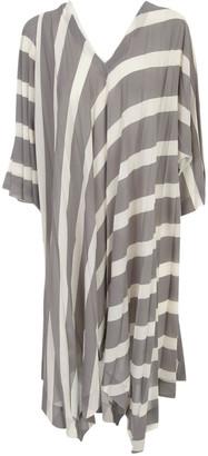 Issey Miyake Pleated Tunic Dress 3/4s V Neck