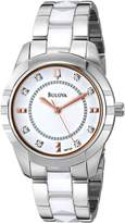 Bulova Women's 98P135 Diamond Dial Watch