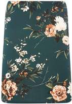 Dorothy Perkins Green Floral Print Scuba Mini Skirt