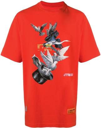 Heron Preston bird print T-shirt