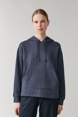 Cos Cropped Organic Cotton Hoodie