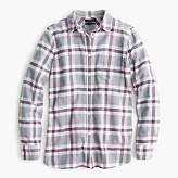 J.Crew Petite Classic fit boy shirt in grey plaid