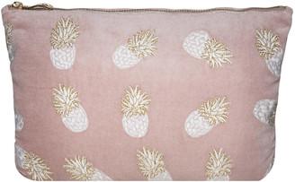 Ananas Elizabeth Scarlett Velvet Travel Pouch - Mauve