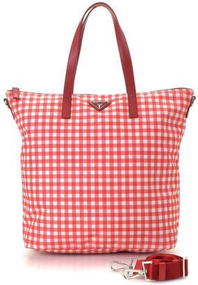 Prada Gingham Two Way Shoulder Bag - Vintage