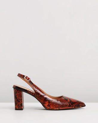 Skin Zion Leather Slingback Heels