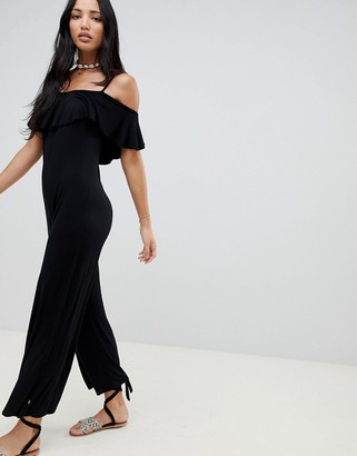 NYTT Aubrey Cold Shoulder Ruffle Jumpsuit