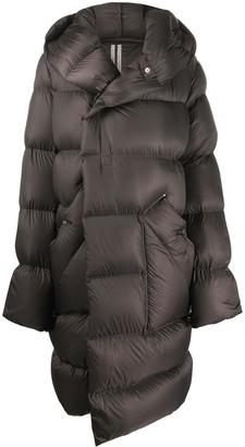 Rick Owens Padded Hooded Midi Coat
