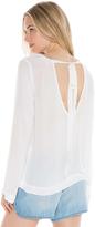 Bella Dahl Bell Sleeve Tie Back Shirt-White-XS