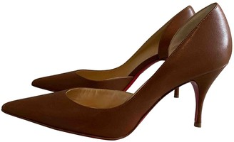 Christian Louboutin Iriza Brown Leather Heels