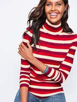 Talbots Long-Sleeve Stripe Turtleneck-Autumnal Stripe