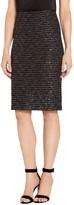 St. John Sparkle Wave Tweed Knit Pencil Skirt