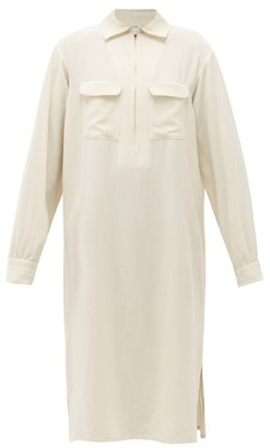 Lemaire Zipped Muslin Shirt Dress - Womens - Ivory