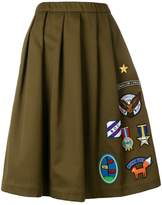 Mira Mikati Scout Patch skirt