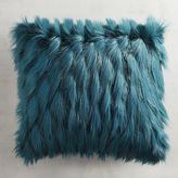 Pier 1 Imports Teal Faux Fur Eyelash Pillow
