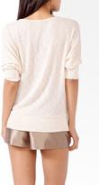 Forever 21 Textured Metallic Sweater
