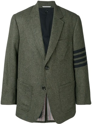 Thom Browne 4-bar Oversized Pocket Sack Sport Coat