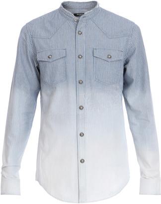 Balmain Gradient-Dyed Cotton Denim Shirt