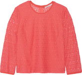 Rebecca Minkoff Luann silk-trimmed lace top