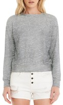 Michael Stars Women's Stripe Crop Sweatshirt