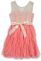 Rare Editions Girls 7-16 Girls Tulle and Lace Dress