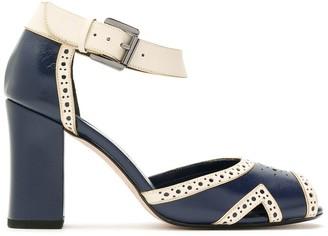 Sarah Chofakian Virginia block heel sandals