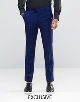 Farah Skinny Suit Trousers In Blue