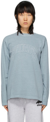 Stussy Grey Arch Long Sleeve T-Shirt
