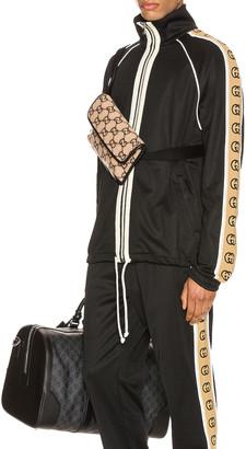Gucci Oversize Technical Jersey Jacket in Black & Multi | FWRD