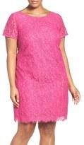 Adrianna Papell Plus Size Women's 'Katie' Lace Shift Dress