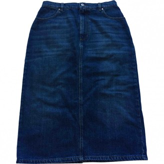 ALEXACHUNG Alexa Chung Blue Cotton Skirt for Women