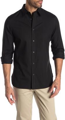 Calvin Klein Solid Regular Fit Flannel Shirt