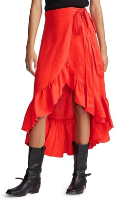 Polo Ralph Lauren Linen Wrap Skirt