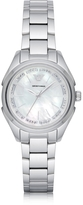 Emporio Armani Stainless Steel Women's Quartz Watch w/Mother of Pearl Signature Dial