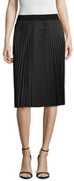 T Tahari Pheobe Solid Pleated Skirt