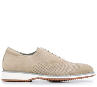 Canali Textured Detail Lace-Up Shoes