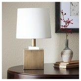 Threshold Brass and Marble Box Accent Lamp - (Includes CFL Bulb