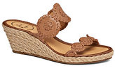 Jack Rogers Shelby Espadrilles Wedge Leather Sandals