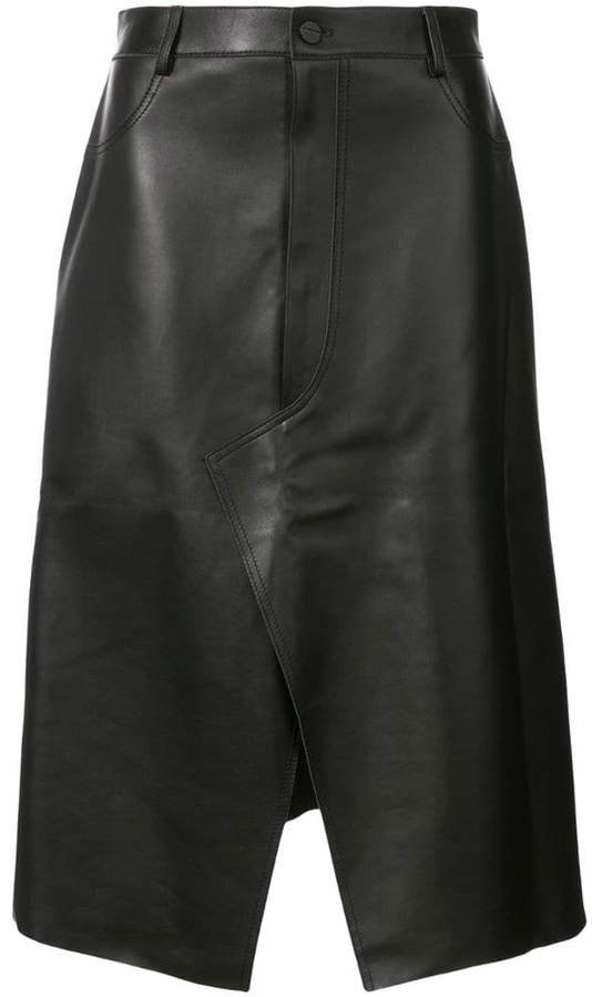 Dion Lee shadow stitch leather skirt