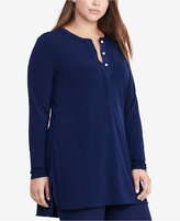 Lauren Ralph Lauren Plus Size Georgette-Back V-Back Top