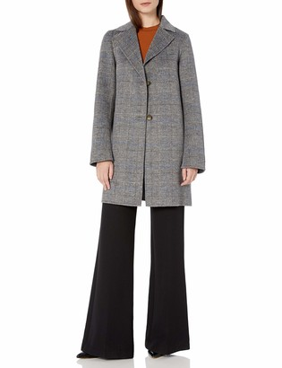 T Tahari Women's Double face Topper with Button Closure