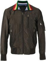 Paul Smith contrast collar bomber jacket - men - Cupro - M