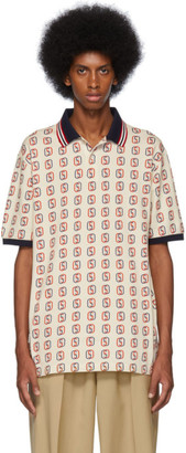 Gucci Off-White Oversized Interlocking G Print Polo