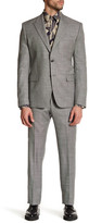 Versace Notch Lapel Two Button Print Wool Suit