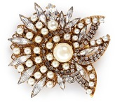 Erickson Beamon 'Born Again' Swarovski crystal glass pearl brooch