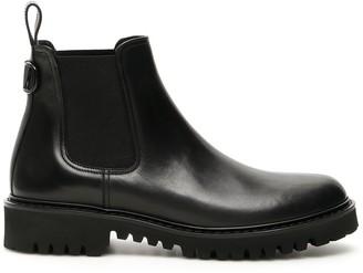Valentino Garavani VLogo Plaque Chelsea Ankle Boots