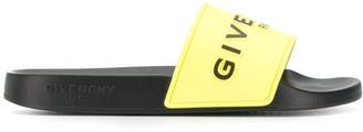 Givenchy logo print pool slides