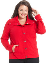 Style&Co. Plus Size Jacket, Active Snap-Front